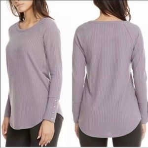 Chaser purple long sleeve waffle knit thermal